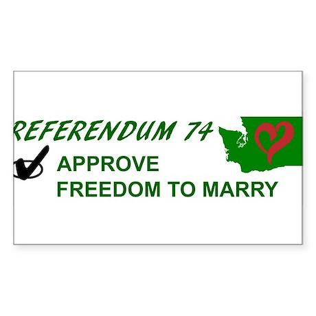 Approve Referendum 74 Sticker (Rectangle)
