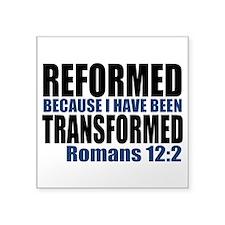 "Reformed Square Sticker 3"" x 3"""