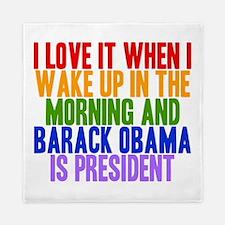 I Love It When Obama Is President Queen Duvet