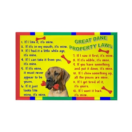 Property Laws -GreatDane,Fawn Magnets