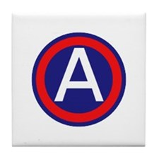 Third United States Army Tile Coaster