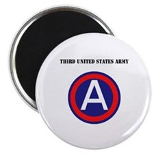 """Third United States Army with Text 2.25"""" Magnet (1"""