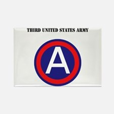 Third United States Army with Text Rectangle Magne