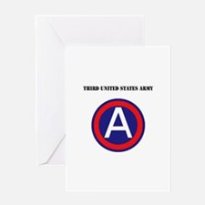 Third United States Army with Text Greeting Card