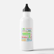 Survivor Colorful Lymphoma Water Bottle