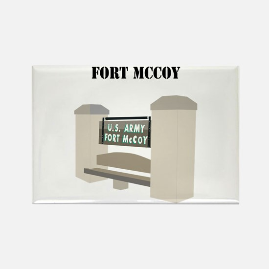 Fort McCoy with Text Rectangle Magnet