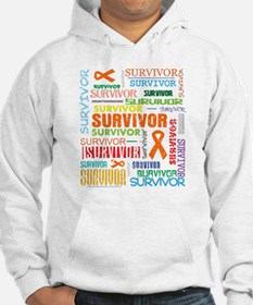 Survivor Colorful Leukemia Hoodie