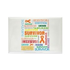 Survivor Colorful Kidney Cancer Rectangle Magnet