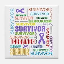 Survivor Hodgkin Disease Tile Coaster