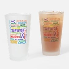 Survivor Hodgkin Disease Drinking Glass