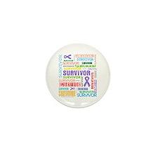 Survivor Hodgkin Disease Mini Button (10 pack)