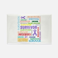 Survivor Hodgkin Disease Rectangle Magnet
