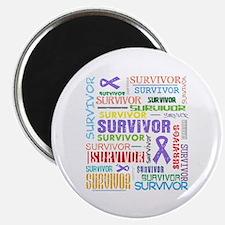 "Survivor Hodgkin Disease 2.25"" Magnet (100 pack)"