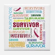 Survivor Head Neck Cancer Tile Coaster