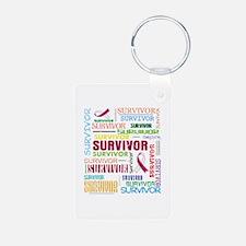 Survivor Head Neck Cancer Aluminum Photo Keychain