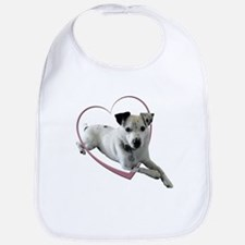 Love Jack Russell Dog Bib