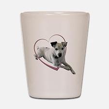 Love Jack Russell Dog Shot Glass