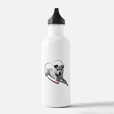 Love Jack Russell Dog Water Bottle