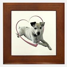 Love Jack Russell Dog Framed Tile