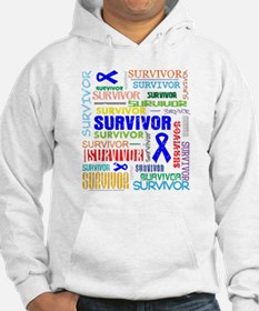 Survivor Colorful Colon Cancer Hoodie