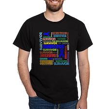 Survivor Colorful Colon Cancer T-Shirt