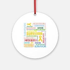 Survivor Childhood Cancer Ornament (Round)