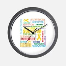 Survivor Childhood Cancer Wall Clock