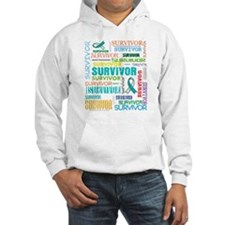 Survivor Colorful Cervical Cancer Hoodie