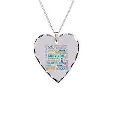 Survivor Colorful Cervical Cancer Necklace Heart C