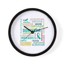 Survivor Colorful Cervical Cancer Wall Clock