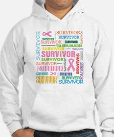Survivor Colorful Breast Cancer Hoodie