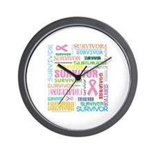 Survivor Colorful Breast Cancer Wall Clock