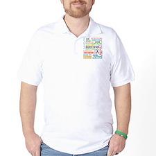 Survivor Colorful Brain Cancer T-Shirt