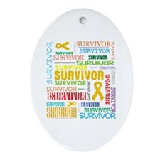 Survivor Appendix Cancer Ornament (Oval)