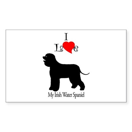 Irish Water Spaniel Rectangle Sticker