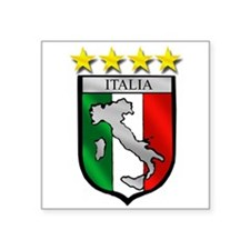 "Italia Shield Square Sticker 3"" x 3"""
