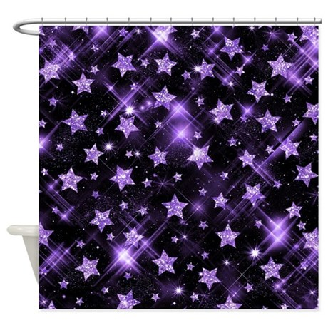 Faux Glitter Stars Gold Shower Curtain By Rewards4lifegifts