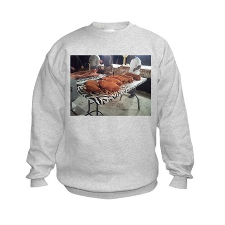 Rub Those Shoulders Kids Sweatshirt