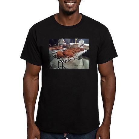 Rub Those Shoulders Men's Fitted T-Shirt (dark)
