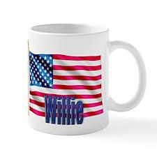Willie Personalized USA Flag Mug