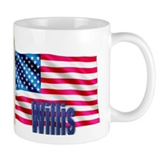 Willis Personalized USA Flag Mug