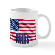 Willis Personalized USA Flag Mug