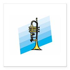 """Trumpet Square Car Magnet 3"""" x 3"""""""