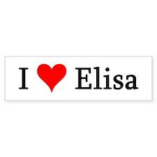 I Love Elisa Bumper Bumper Sticker