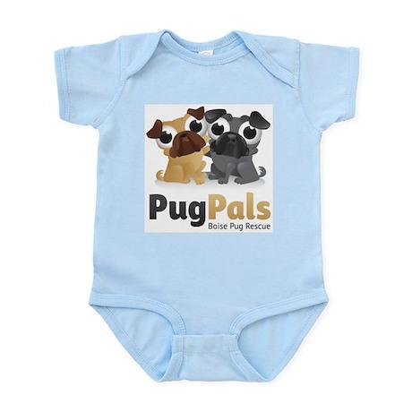Pug Pals Logo Infant Bodysuit