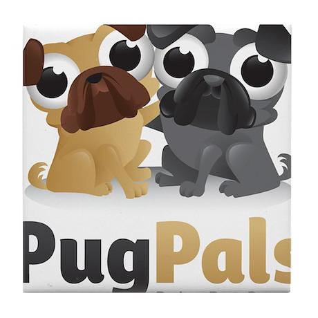 Pug Pals Logo Tile Coaster