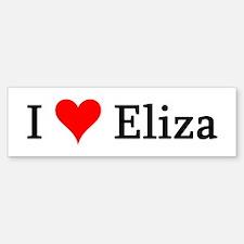 I Love Eliza Bumper Bumper Bumper Sticker