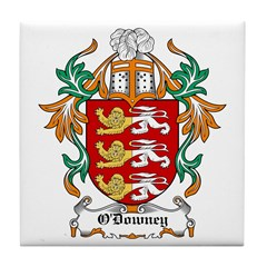 O'Downey Coat of Arms Tile Coaster