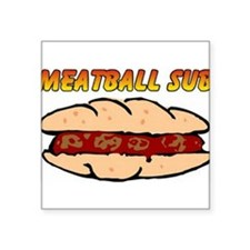 "Meatball Square Sticker 3"" x 3"""