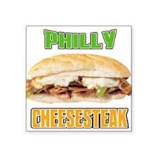 """Philly Cheesesteak Square Sticker 3"""" x 3"""""""